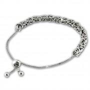 SilberDream Armband Königskette Zugverschluss 925 Sterling Silber Damen SDA6002J