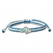 Kinder Armband hellblau mit Fisch Kinderschmuck 925er Silber TW SDA8001H