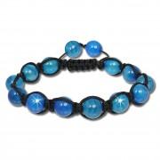 SilberDream Shamballa Armband Stein blau aus Steinkugeln SDA917