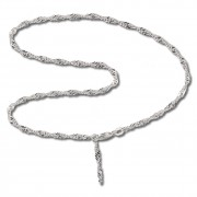 SilberDream Fußkette Singapur 25cm 925 Sterling Silber SDF014