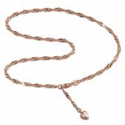 SilberDream Fußkette Herz Zirkonia 25,5cm Rose vergoldet und 925 Silber SDF0295E