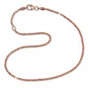 SilberDream Fußkette gedreht 26,5cm Rose vergoldet und 925 Silber SDF0306E