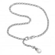SilberDream Fußkette Perle 26cm 925 Sterling Silber SDF0315J