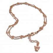 SilberDream Fußkette Engel rosevergoldet 27cm 925 Sterling Silber SDF2174E