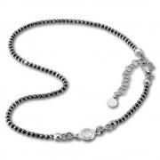 SilberDream Fußkette Zirkonia 27cm geschwärzt diamantiert 925 Silber SDF2244K