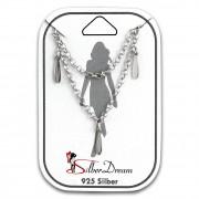 SilberDream Fußkette Blätter 25cm 925 Sterling Silber Damen SDF5045J