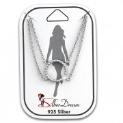 SilberDream Fußkette Ring 25cm 925 Sterling Silber SDF5065J