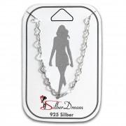 SilberDream Fußkette Herzchen 25cm 925 Sterling Silber SDF5075J