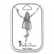 SilberDream Fußkette Dangle Kugeln 25cm 925 Sterling Silber Damen SDF5165J