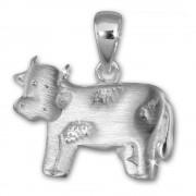 Teenie-Weenie Kettenanhänger Kuh für Kinder 925er Silber SDH414J