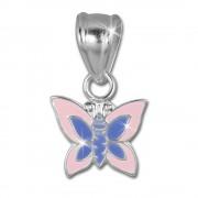 Teenie-Weenie Kettenanhänger Schmetterling rosa für Kinder 925er Silber SDH8102A