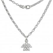 SilberDream Kinder-Kette Engel Zirkonia weiß 925 Silber SDK01638
