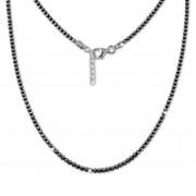 SilberDream Collier Kette Kugeln geschwärzt 925 Silber Damen 44cm-47cm SDK11045K