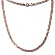 SilberDream Collier Kette gedreht rose vergoldet 925 Silber Damen 45cm SDK21645E