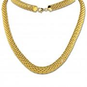 SilberDream Collier Kette Geflecht vergoldet Damen 45cm SDK22045Y
