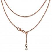 SilberDream Collier Kette rose vergoldet 925 Silber Damen 45cm SDK22545E