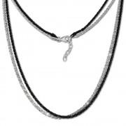 SilberDream Collier Kette gedreht Schwarzrhodium und 925 Silber 42cm SDK23342S