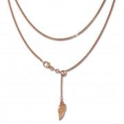 SilberDream Collier Kette Flügel rosevergoldet 925er Silber Damen 45cm SDK23445E
