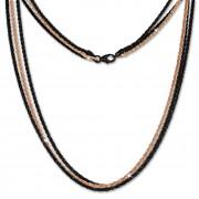 SilberDream Collier Kette gedreht rose vergoldet und geschwärzt 45cm SDK23745S