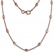 SilberDream Kette Glamour rosevergoldet 925 Silber 45cm Damen Kette SDK26245E