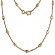 SilberDream Kette Glamour vergoldet 925 Silber 45cm Damen Kette SDK26245Y