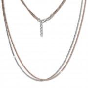 SilberDream Collier Venezia Kette rose vergoldet 925 Silber Damen 43cm SDK26543T