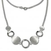 SilberDream Collier Kette mit matten Elementen 925 Silber 45cm SDK400