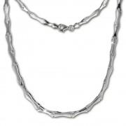 SilberDream Collier Kette Style 925 Silber 45,5cm Halskette SDK405
