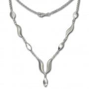 SilberDream Collier Kette Wave 925 Silber 45cm Halskette SDK410