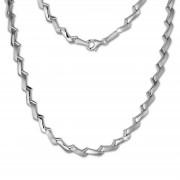 SilberDream Collier Kette Zick-Zack 925er Silber 45cm Damen Kette SDK440J