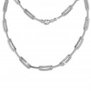 SilberDream Collier Kette diamantiert 925 Silber 44cm Halskette SDK442J