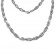 SilberDream Collier Oval Zirkonia weiß 925er Silber 44,5cm Halskette SDK460W