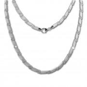 SilberDream Collier Fantasie Zirkonia weiß 925er Silber 45,5cm Halskette SDK464W