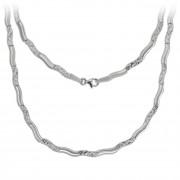 SilberDream Collier Wave 925 Silber gehämmert matt 45cm Kette SDK4792O