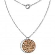 SilberDream Kette Doppel Plakette rose vergoldet 925 Silber 45 cm SDK8002E