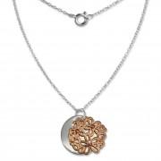 SilberDream Kette Doppel Plakette rose vergoldet 925 Silber 45 cm SDK8003E