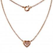 SilberDream Kette Herz rose 925er Sterling Silber 45cm Halskette SDK8009E
