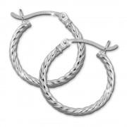 SilberDream Creole gedreht 20mm Damen Ohrring 925 Sterling Silber SDO0062J