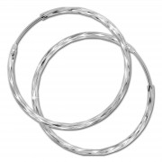 SilberDream Creole glänzend 35mm Damen Ohrring 925 Sterling Silber SDO0083J