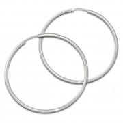 SilberDream Creole Simply matt 60mm Ohrring 925 Silber Schmuck SDO0976