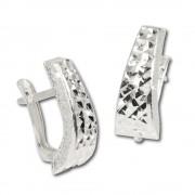 SilberDream Ohrring Welle diamantiert 925 Silber Ohrstecker SDO314