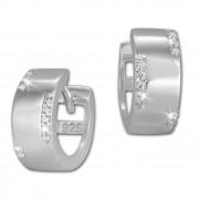 SilberDream Creole Zirkonia weiß 925 Sterling Silber Damen Ohrring SDO385W