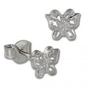 SilberDream Ohrstecker Schmetterling 925er Silber Kinder Ohrringe SDO407