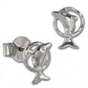 SilberDream Ohrstecker Delfin 925 Sterling Silber Kinder Ohrringe SDO411