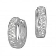 SilberDream Creole 2-reihig Zirkonia weiß 925 Sterling Silber Damen SDO424W