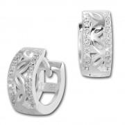 SilberDream Creole Senses Zirkonia weiß 925 Sterling Silber Damen SDO4266W