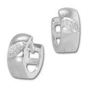 SilberDream Creole Zirkonia-Blatt weiß 925 Sterling Silber Damen SDO4268W