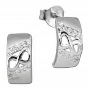 SilberDream Ohrstecker Unendlich Zirkonia weiß 925 Silber Damen Ohrring SDO4272W