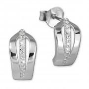 SilberDream Ohrstecker 12 Zirkonia weiß 925er Silber Damen Ohrring SDO4273W
