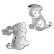 Teenie-Weenie Ohrstecker Hündchen 925er Silber Kinder, Damen Ohrring SDO4293J